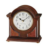 Seiko Wood & Brass Carriage Clock - QXJ012BLH