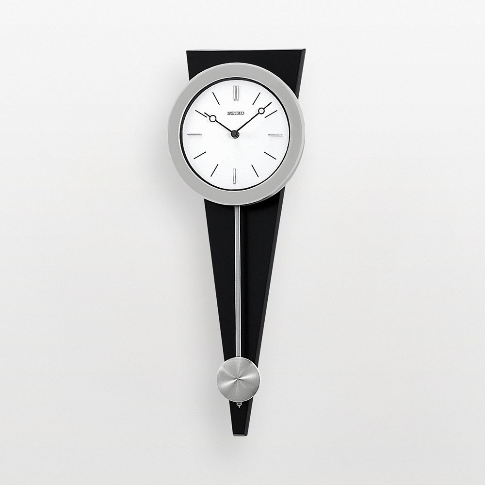 Silver tone pendulum wall clock qxc111slh seiko silver tone pendulum wall clock qxc111slh amipublicfo Image collections