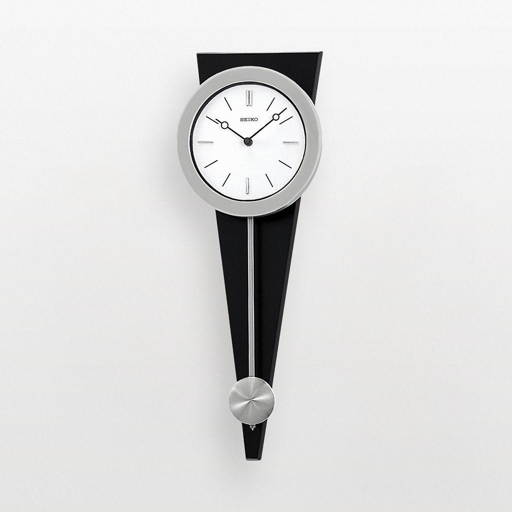 Seiko Silver Tone Pendulum Wall Clock - QXC111SLH