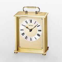 Seiko Gold Tone Brass Carriage Clock - QHG102GL