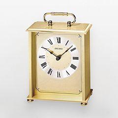 Seiko Gold Tone Brass Carriage Clock - QHG102GL