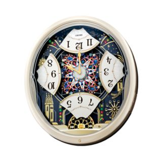 Seiko Melodies in Motion Crystal LED Fireworks Musical Wall Clock - QXM239SRH