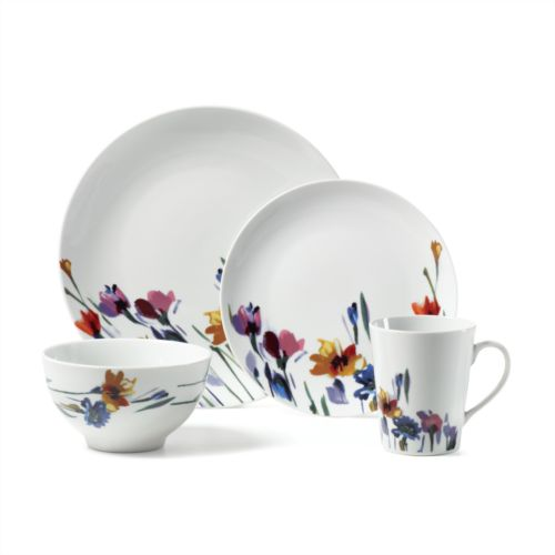 Mikasa Gourmet Basics Watercolor Garden 16-pc. Dinnerware Set