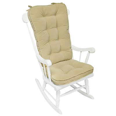 Solid 2-pc. Deluxe Rocking Chair Pad Set