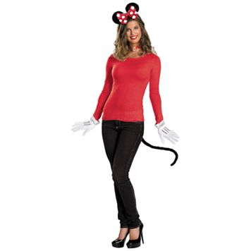 Disney Red Minnie Mouse Accessory Kit - Adult