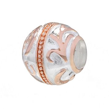 Individuality Beads 14k Rose Gold Over Silver & Sterling Silver Filigree Spacer Bead