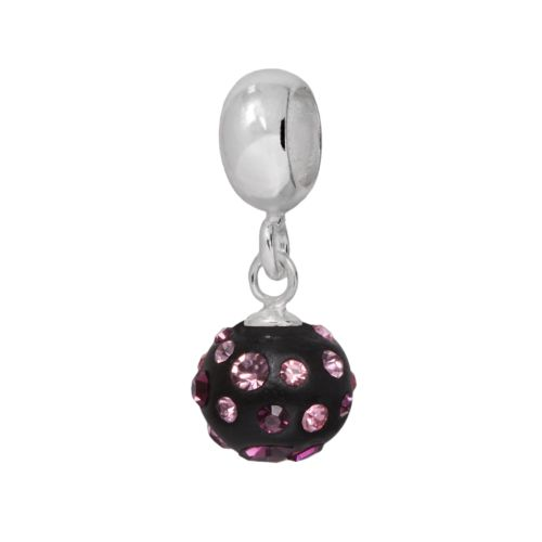 Individuality Beads Sterling Silver Crystal Black Charm