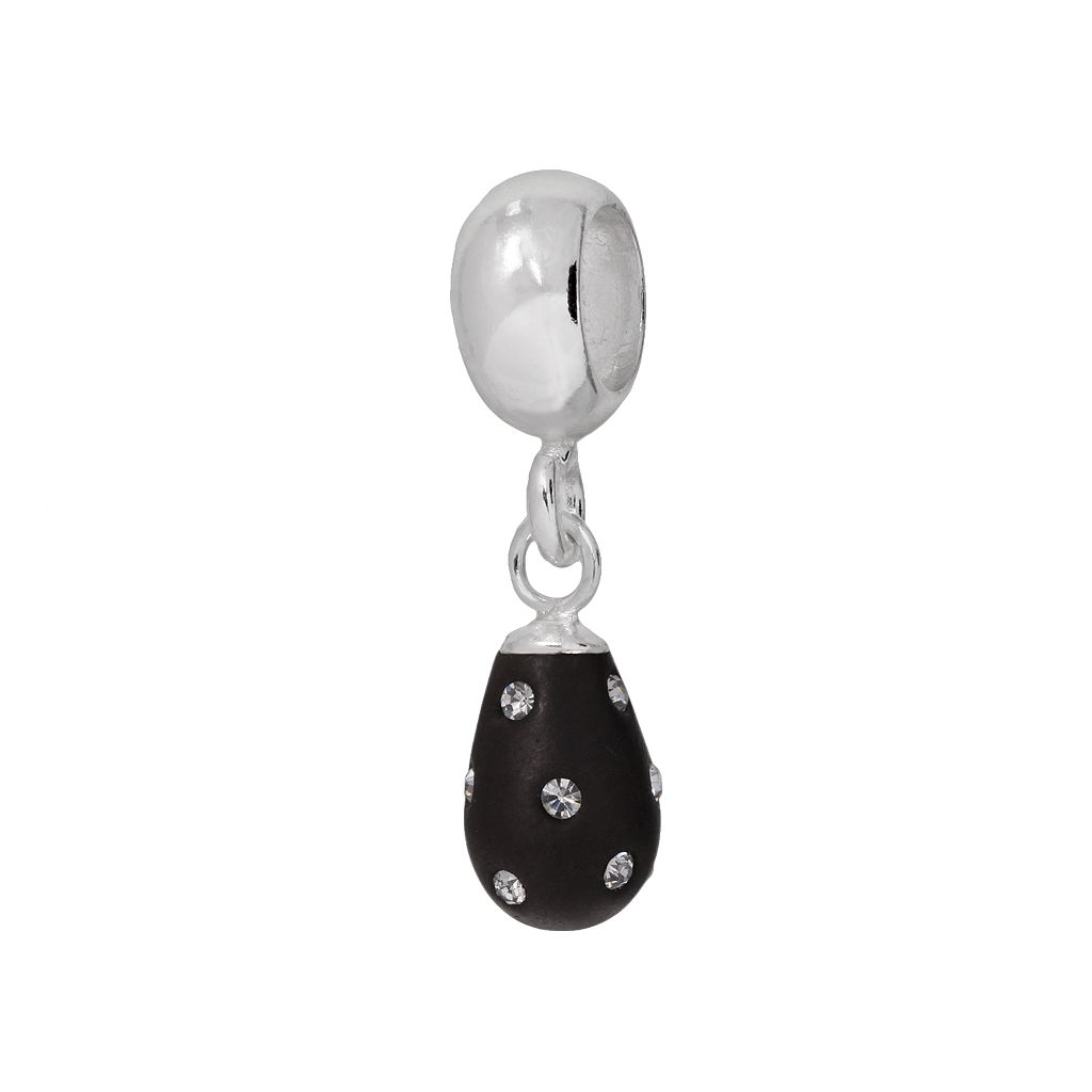 Individuality Beads Sterling Silver Crystal Teardrop Charm