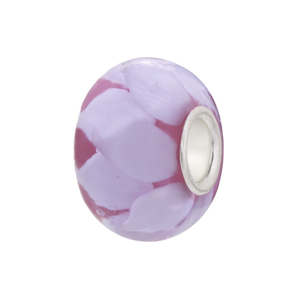 Individuality Beads Lavender Flower Glass Bead