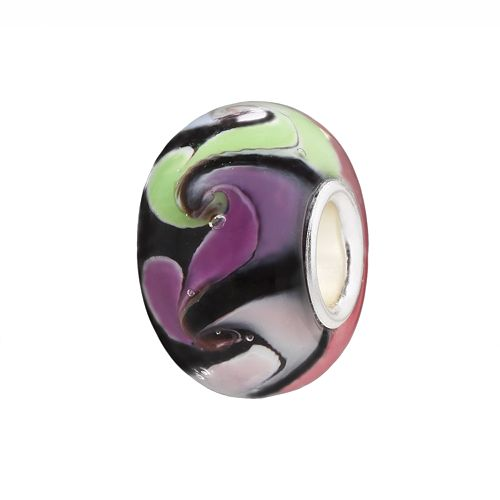 Individuality Beads Swirl Glass Bead