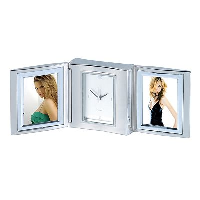 Tri-Fold Alarm Clock and Double Photo Frame