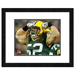 Clay Matthews Framed Flexing Player Photo