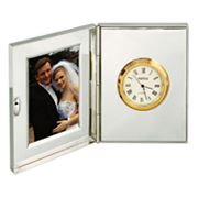 Travel Desk Clock and Photo Frame