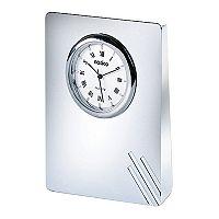 Natico Contempo Pearl Silver Desk Clock