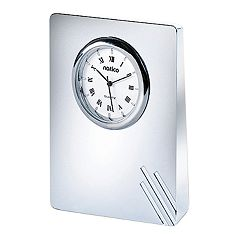 Natico Contempo Pearl Silver Desk Clock