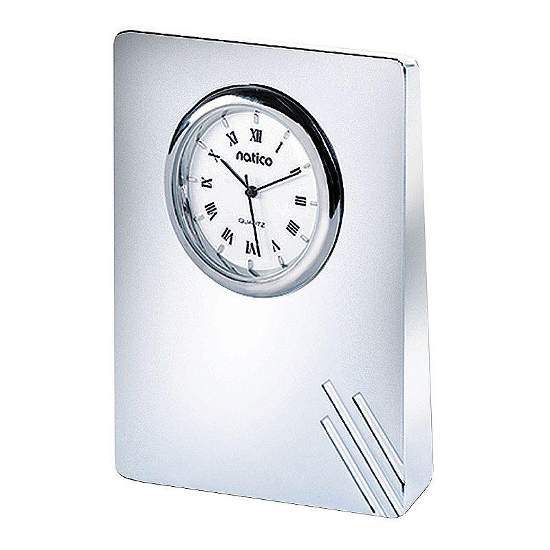 Contempo Pearl Silver Desk Clock