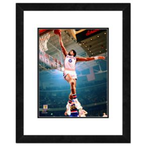 Julius Erving Framed Player Photo