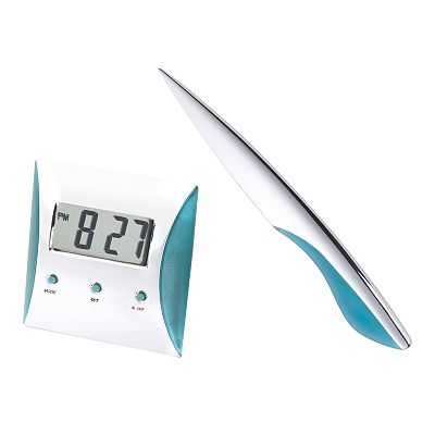 Silver Digital Alarm Clock