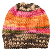 4 buttons by San Diego Hat Co. Rainbow Knit Hat