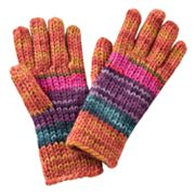 4 buttons by San Diego Hat Co. Rainbow Knit Gloves