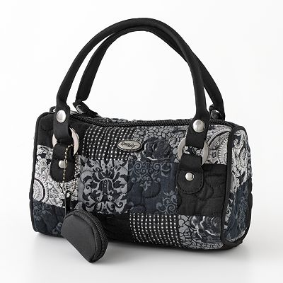 Donna Sharp Sammie Quilted Patchwork Mini Barrel Bag