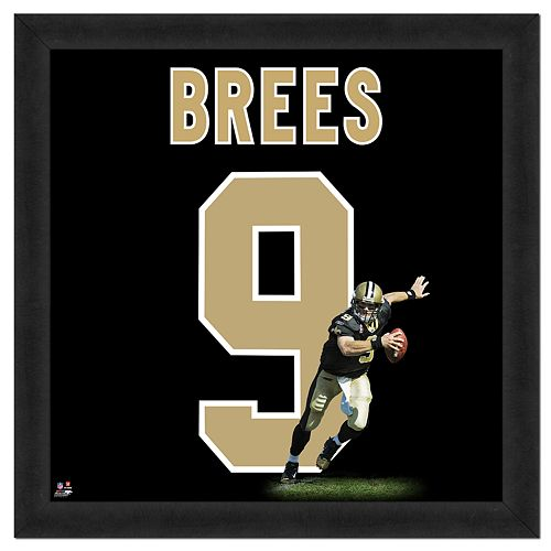 Drew Brees Framed Jersey Photo Wall Art