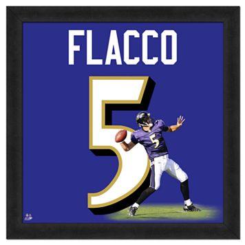 Joe Flacco Framed Jersey Photo Wall Art
