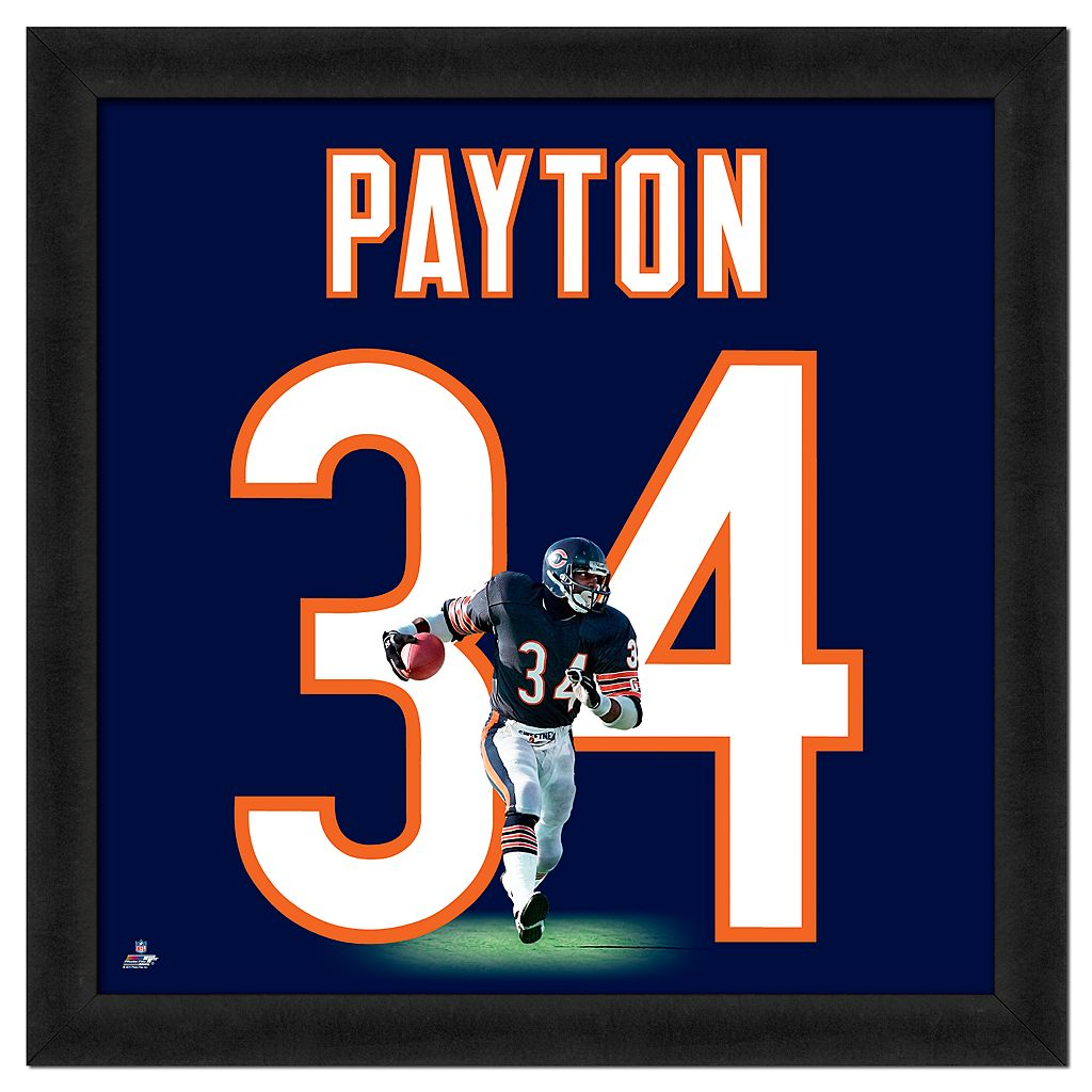 Walter Payton Framed Jersey Photo Wall Art