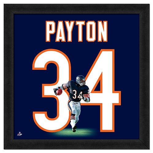 Walter Payton Framed Jersey Photo Wall Art