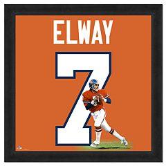 John Elway Framed Jersey Photo Wall Art