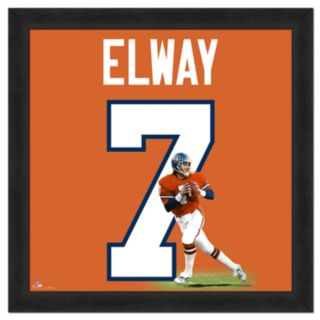 John Elway Framed Jersey Photo Wall Art