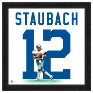 Roger Staubach Framed Jersey Photo Wall Art