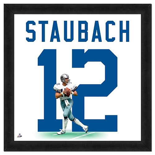 Roger Staubach Framed Jersey Photo Wall Art