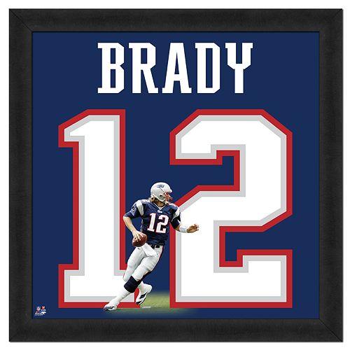 Tom Brady Framed Jersey Photo Wall Art