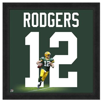 Aaron Rodgers Framed Jersey Photo Wall Art