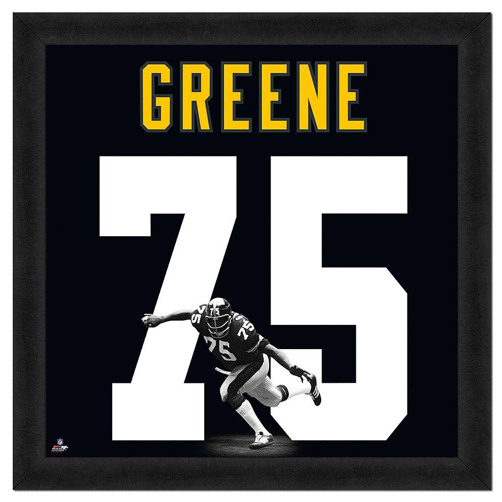 Joe Greene Framed Jersey Photo Wall Art