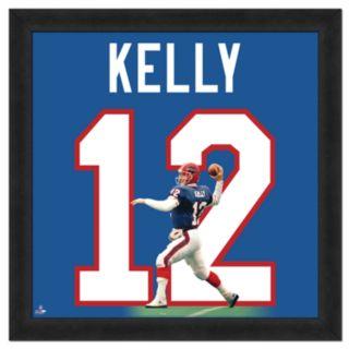 Jim Kelly Framed Jersey Photo Wall Art