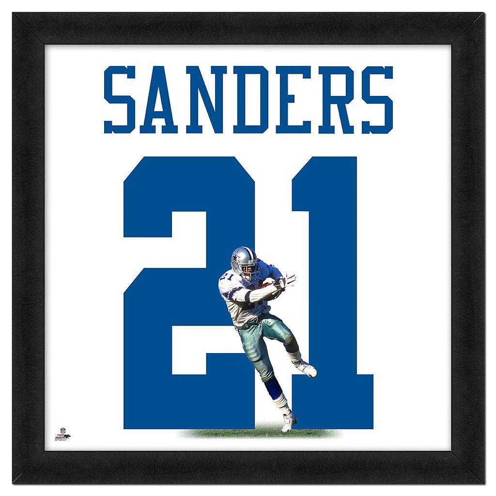 Deion Sanders Framed Jersey Photo Wall Art