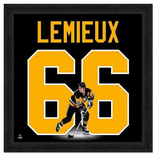 Mario Lemieux Framed Jersey Photo Wall Art