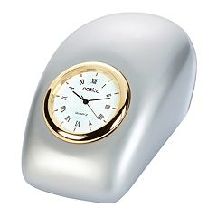Natico Pearl Silver Tron Desk Clock