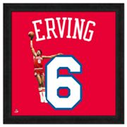 Julius Erving Framed Jersey Photo