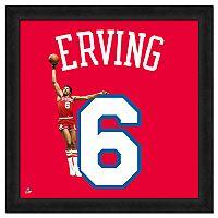 Julius Erving Framed Jersey Photo