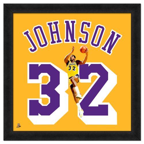 Magic Johnson Framed Jersey Ph...