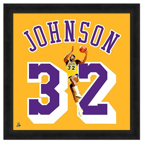 Magic Johnson Framed Jersey Photo