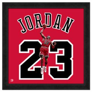 Michael Jordan Framed Jersey Photo