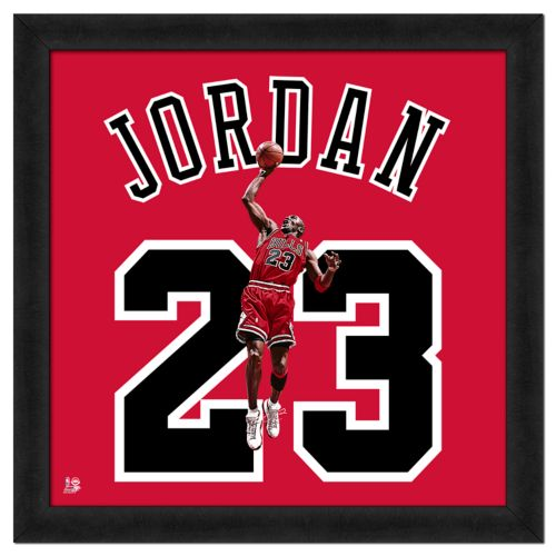 Michael Jordan Framed Jersey Photo