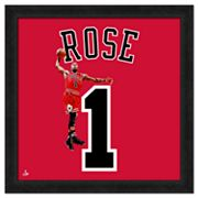 Derrick Rose Framed Jersey Photo