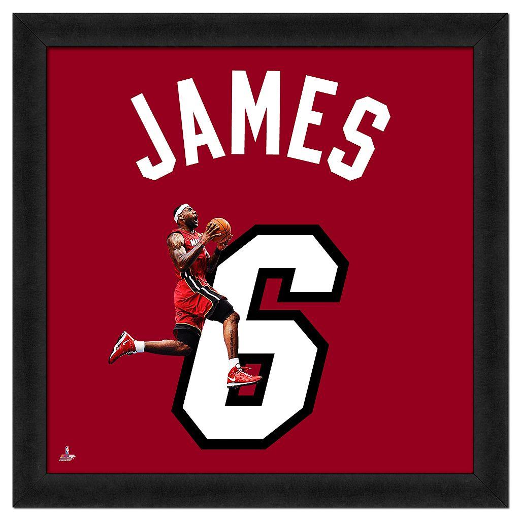 Lebron James Framed Jersey Photo