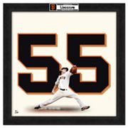 Tim Lincecum Framed Jersey Photo