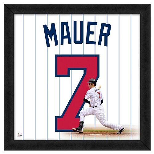 Joe Mauer Framed Jersey Photo